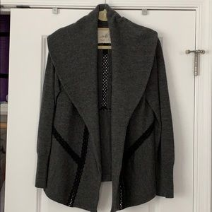 Gray wool sweater jacket Anthropologie. sz L